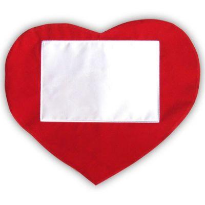 Sublimasyon Düz Kırmızı Kalp Yatay Kılıf