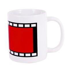 - Sublimasyon Film Şeritli Beyaz İthal Sihirli Kupa