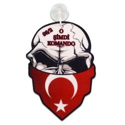 - Sublimasyon Fleks Araç Arkası Mask Kurukafa ARK109