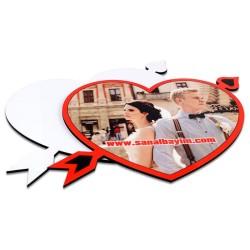 Digitronix - Sublimasyon HDF Oklu Kalp Çerçeve HD1006 (1)