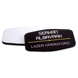 - Sublimasyon HDF Yaka İsimliği Dörtgen Elips 40x70mm (1)