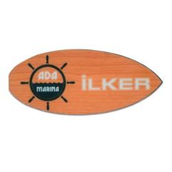 - Sublimasyon HDF Yaka İsimliği Sörf 30x70mm