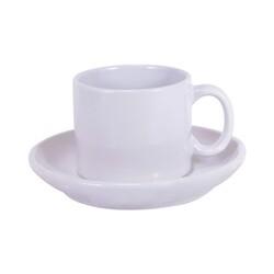 - Sublimasyon Nescafe Fincanı Tabaklı Beyaz