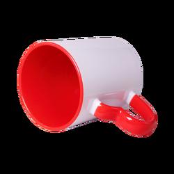 - Sublimasyon Kalp Kulplu İçi Kırmızı Kupa Bardak (1)