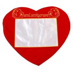 - Sublimasyon Kalp Sarı Kırmızı Nakışlı Kılıf (1)