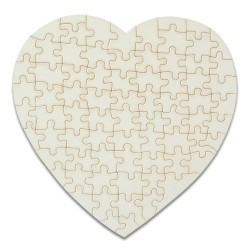- Sublimasyon Kalpli Puzzle 75 Parça Özel