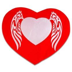 - Sublimasyon Kanatlı Taşlı Kalp Kılıf