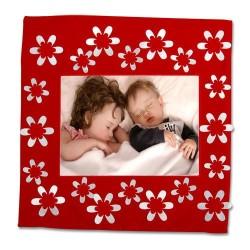 - Sublimasyon Kare Çiçekli Kırmızı 40 cm Yastık Kılı (1)