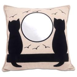 - Sublimasyon Kedi Desenli Kare Yastık