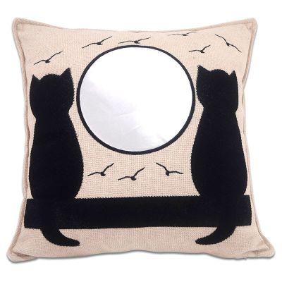 Sublimasyon Kedi Desenli Kare Yastık