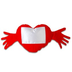 - Sublimasyon Kırmızı Kalpli Kollu Kılıf (1)