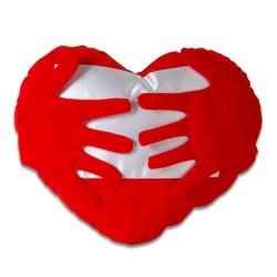 Sublimasyon Kırmızı Kalpli Kollu Kılıf - Thumbnail