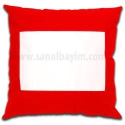 - Sublimasyon Kırmızı Kare 40 cm Yastık Kılıfı