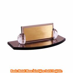 Digitronix - Sublimasyon Kristal Masa İsimliği KC2003 Bronz