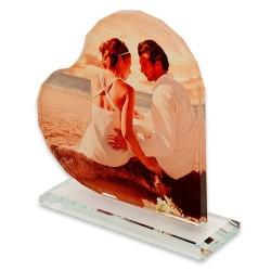 - Sublimasyon Kristal Plaket Beyaz Kalp (1)