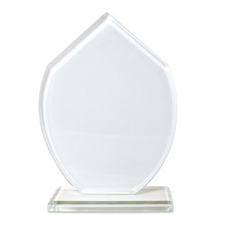 Sublimasyon Kristal Plaket Beyaz Turkuaz - Thumbnail