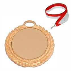 - Sublimasyon Madalya Altın 5,5 cm Çelenkli