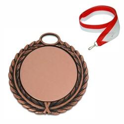 - Sublimasyon Madalya Bronz 5,5 cm Çelenkli