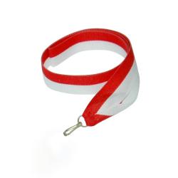 - Sublimasyon Madalya İpi Ekonomik Kırmızı Beyaz