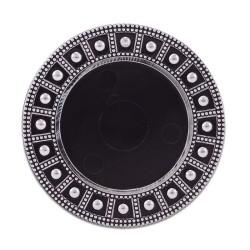 - Sublimasyon Magnet Daire Çerçeve Siyah Gümüş (1)