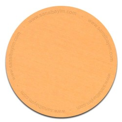 - Sublimasyon Metal Levha Mat Sarı Fırçalı Eko 30x60