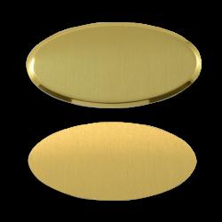 - Sublimasyon Metal Yaka İsimliği KC3012 Altın Oval 4x7 cm (1)