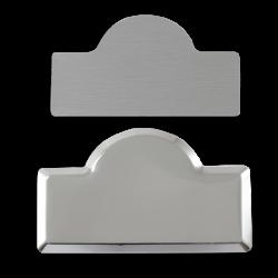 - Sublimasyon Metal Yaka İsimlik KC3006 Gümüş Kubbe 4,5x7 cm (1)