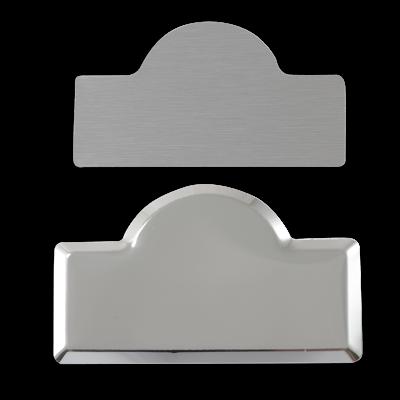 Sublimasyon Metal Yaka İsimlik KC3006 Gümüş Kubbe 4,5x7 cm