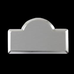 Sublimasyon Metal Yaka İsimlik KC3006 Gümüş Kubbe 4,5x7 cm - Thumbnail