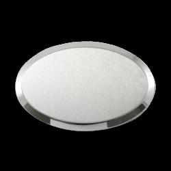 Sublimasyon Metal Yaka İsimlik KC3009 Gümüş Oval 6,5x4,5 cm - Thumbnail