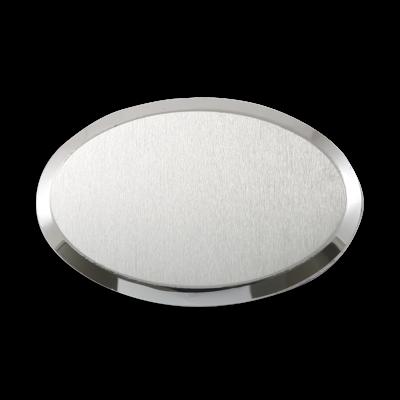 Sublimasyon Metal Yaka İsimlik KC3009 Gümüş Oval 6,5x4,5 cm