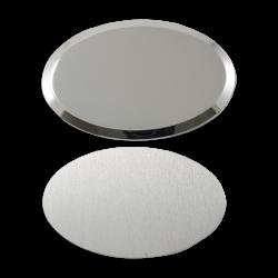 - Sublimasyon Metal Yaka İsimlik KC3009 Gümüş Oval 6,5x4,5 cm (1)