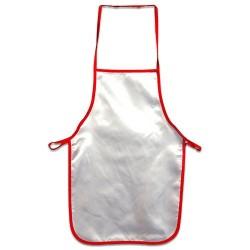 - Sublimasyon Mutfak Önlüğü Kırmızı Biyeli