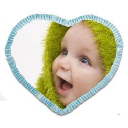 - Sublimasyon Saten Mavi Kalp Fırfırlı Kılıf (1)