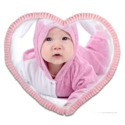 - Sublimasyon Saten Pembe Kalp Fırfırlı Kılıf (1)