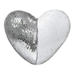 - Sublimasyon Sihirli Kalp Yastık Gümüş