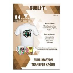 Subli-T - Sublimasyon Transfer Baskı Kağıdı A4 Teks. Subli-T