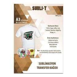 - Sublimasyon Transfer Kağıdı A3 Tekstil Subli-T