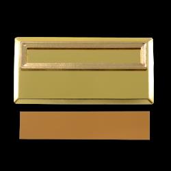 - Sublimasyon Yaka İsimliği Metal KC3002 Altın Dikdörtgen Geçmeli 3,5x7 cm (1)