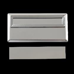 - Sublimasyon Yaka İsimliği Metal KC3005 Gümüş Dikdörtgen Geçmeli 3,5x7 cm (1)