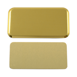 - Sublimasyon Yaka İsimliği Metal KC3014 Altın Dikdörtgen 3,4x6 cm (1)