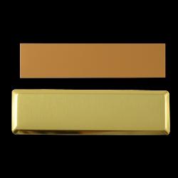 - Sublimasyon Yaka İsimlik Kart KC3015 Altın Dikdörtgen 2,5x7,5 cm (1)