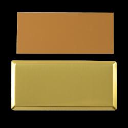 - Sublimasyon Yaka İsimlik KC3007 Altın Dikdörtgen Kart 3,5x7 cm (1)