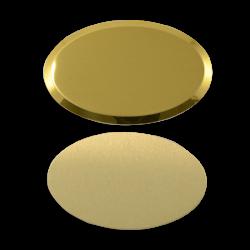 - Sublimasyon Yaka İsimlik Metal KC3008 Altın Oval 5x4,5 cm (1)