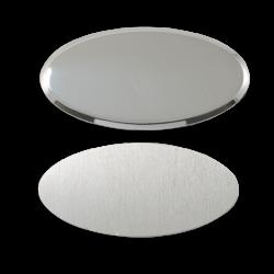 - Sublimasyon Yaka İsimlik Metal KC3011 Gümüş Oval 4x7 cm (1)