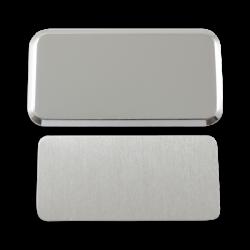 - Sublimasyon Yaka İsimlik Metal KC3017 Gümüş Dikdörtgen 3,4x6 cm (1)