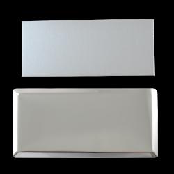 - Sublimasyon Yaka Kartı KC3010 Gümüş Dikdörtgen 3,5x7 cm (1)