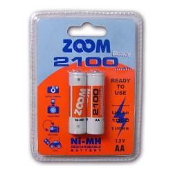 - Zoom 2100 MAH AA Nİ MH Şarjlı Kalem Pil
